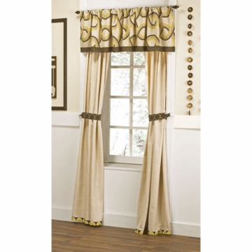CoCaLo Couture Cyprus Two Panel Drapes with Tiebacks