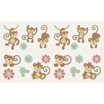 CoCo & Company Melanie the Monkey Removable Wall Appliques