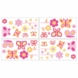 Sweet JoJo Designs Pink & Orange Butterfly Wall Decals