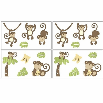CoCo & Company Monkey Time Removable Wall Appliques