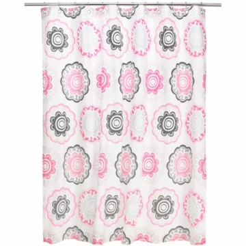 DwellStudio Zinnia Rose Shower Curtain
