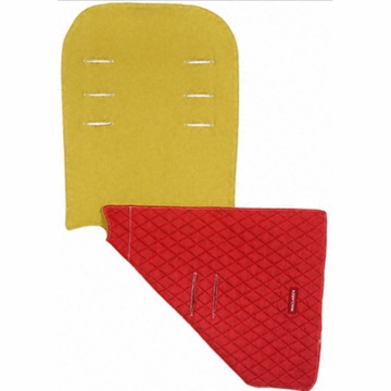 Maclaren Reversible Eco Seat Liner in Recycled Polyester Mustard/Scarlet
