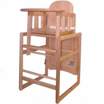 Kettler Kombi High Chair in Natural Solid Beechwood