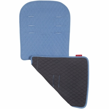 Maclaren Reversible Eco Seat Liner in Recycled Twill Graphite/Blue