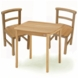 Kettler Square Table and Chair Set of 2 Set Natural