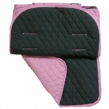 Maclaren Reversible Eco Seat Liner in Recycled Twill Graphite/Pink