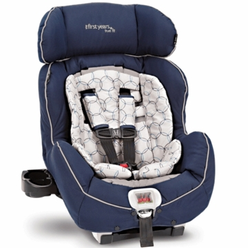The First Years True Fit Recline Convertible Car Seat in Navy/Grey