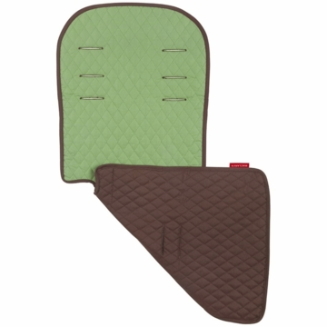 Maclaren Reversible Eco Seat Liner in Recycled Twill Walnut/Marsh Green