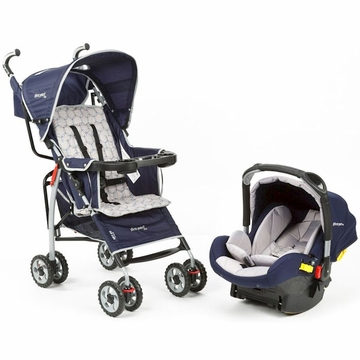 The First Years Wisp Travel System - Spiro Navy and Gray