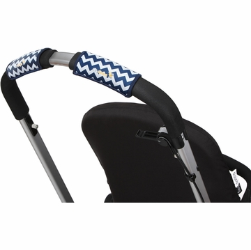 City Grips Stroller Single Handlebar Cover - Chevron Navy