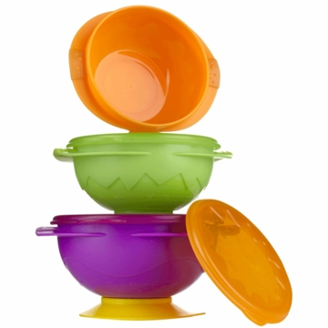 Sassy On-the-Go Snack Bowl Set in Pink