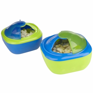 Sassy Perfect Sized Snack Pods in Blue with Green Accents