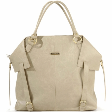 Timi & Leslie Charlie Designer Leather Diaper Bag in Light Brown