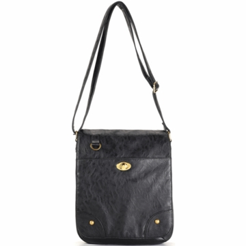 Timi & Leslie Mandy Designer Leather Diaper Bag in Black