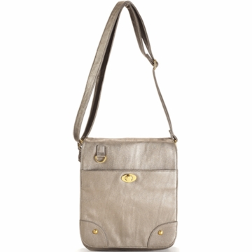 Timi & Leslie Mandy Designer Leather Diaper Bag in Pewter