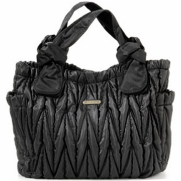 Timi & Leslie Marie Antoinette Leather Diaper Bag in Black