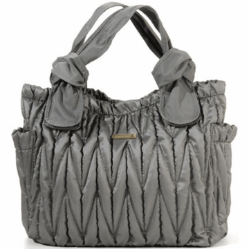 Timi & Leslie Marie Antoinette Leather Diaper Bag in Silver