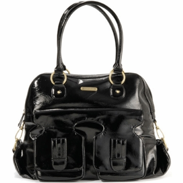 Timi & Leslie Marilyn Designer Leather Diaper Bag in Black