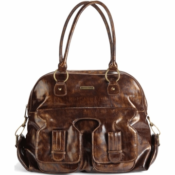 Timi & Leslie Marilyn Designer Leather Diaper Bag in Brown