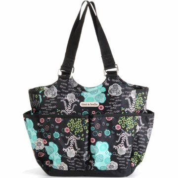 Timi & Leslie Tag-A-Long Tote Diaper Bag in Aiko