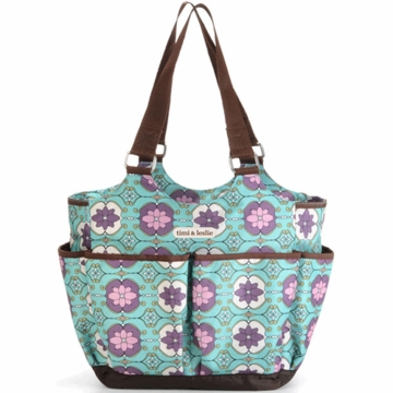 Timi & Leslie Tag-A-Long Tote Diaper Bag in Farah