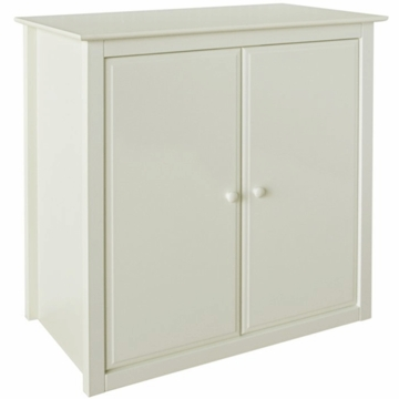 DaVinci Roxanne Wood Cupboard Hutch in Antique White