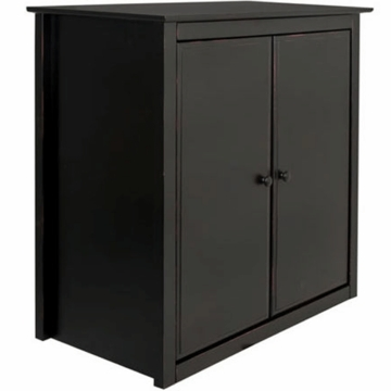 DaVinci Roxanne Wood Cupboard Hutch in Red/Black