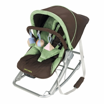 Maclaren Infant Rocker Coffee Brown Marsh Green