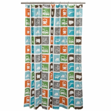 DwellStudio Shower Curtain in Transportation