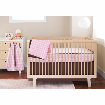 Skip Hop Complete Sheet 4-Piece Set - Pink Lattice