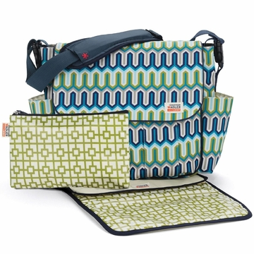 Skip Hop Dash Diaper Bag - Jonathan Adler - Chevron Blue