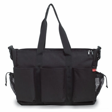 Skip Hop Duo Double Canvas Diaper Bag in Black