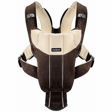 BabyBj�rn Active Infant Carrier - Corduroy Dark Brown/Beige