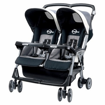 Peg Perego 2009 Aria Twin 60/40 in Titanio