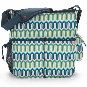 Skip Hop Duo Diaper Bag - Jonathan Adler - Chevron Blue