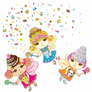 Wall Candy Arts Sweet Dreams Fairies Wall Decals