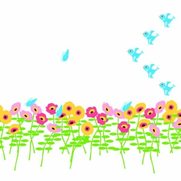 Wall Candy Arts Blossoms Flower Wall Stickers