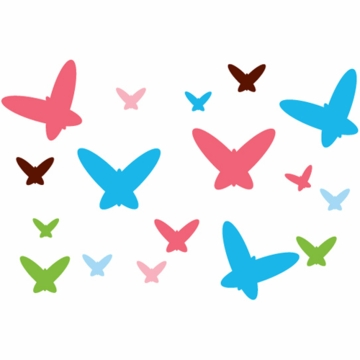 Wall Candy Arts Flutterflies Removable Wall Decals