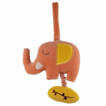 MiYim Musical Pull Toy in Pink Elephant