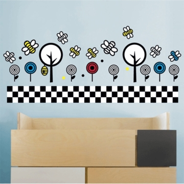 Wall Candy Arts Smarts Bees & Trees Nursery Decoration