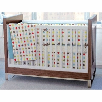 Skip Hop Mod Dot 4-Piece Crib Bedding Set