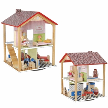 Kidkraft Dollhouse on Swivel with Furniture
