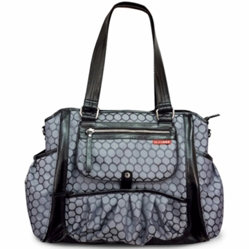 Skip Hop Studio Diaper Tote in Charcoal Dots