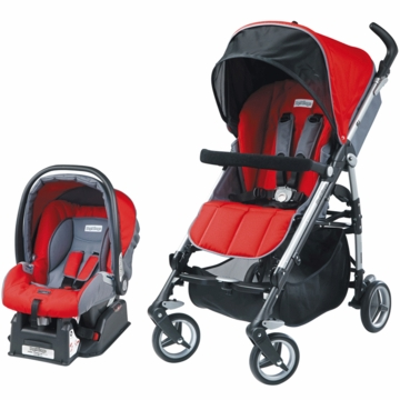 Peg Perego 2010 Si Travel System in Paprica