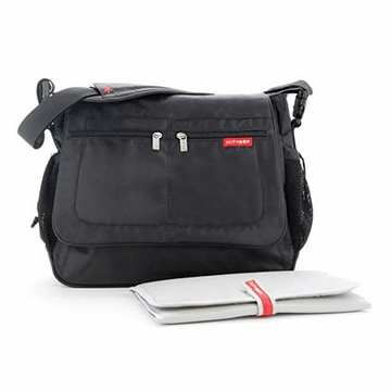 Skip Hop Via Messenger Diaper Bag in Black