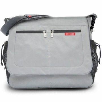 Skip Hop Via Messenger Diaper Bag in Platinum