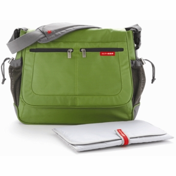 Skip Hop Via Messenger Diaper Bag in Lime