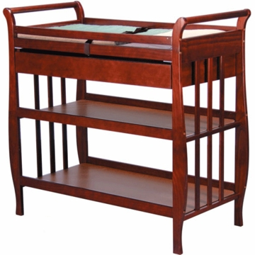 DaVinci Emily Changing Table with Dresser in Cherry Finish