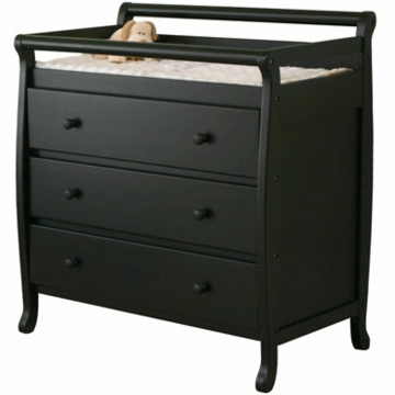 DaVinci Emily Three Drawer Changing Table in Ebony Black
