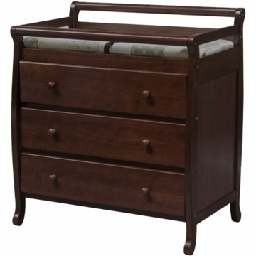 DaVinci Emily Three Drawer Changing Table in Espresso
